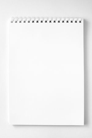 Blank notebook ready for writing Stock Photo
