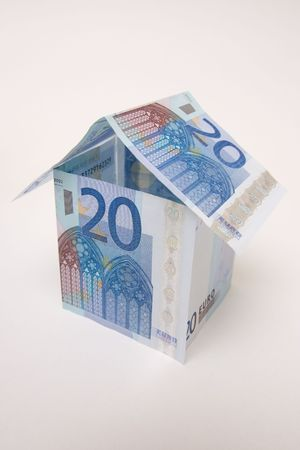 house build with euro cash photo