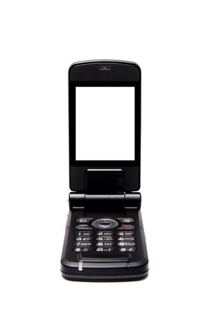 Cellular phone with screen ready for pasting clients photo text or data  Stock Photo - 5094601