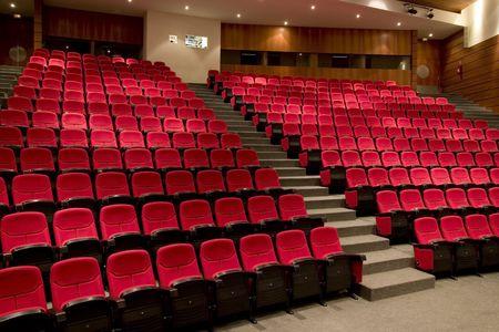 letras musicales: vac�a el cine o el teatro auditorio de la sala de conferencias. Foto de archivo