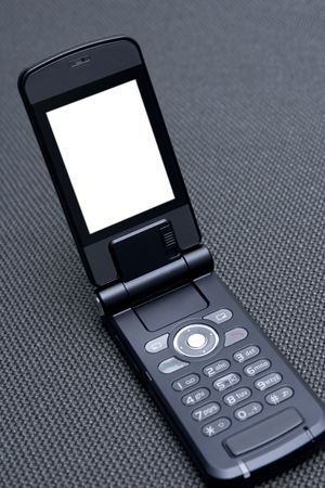Cellular phone with screen ready for pasting clients text or data photo