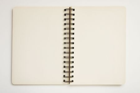 Blank spiral notebook ready for writing Stock Photo