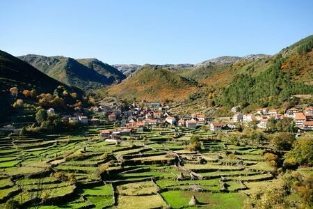 Geres, a old mountain village view at Portugal Stock Photo