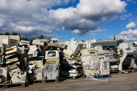 industry electronic: Modern electronic waste for recycling or safe disposal, any logos and brand names have been removed. Great for recycle and environmental themes.