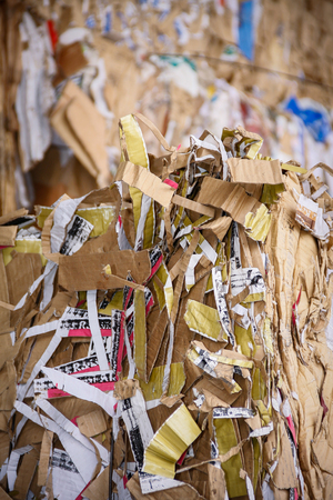 environmental damage: Pile of waste and trash for recycling or safe disposal, Great for recycle and environmental themes. Stock Photo