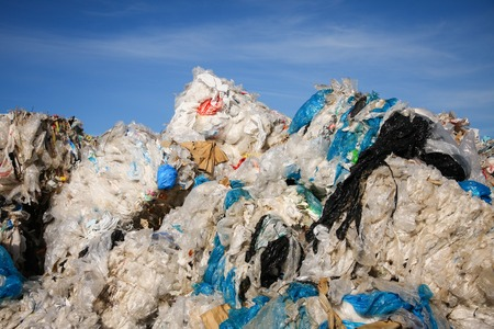 scrapyard: Pile of waste and trash for recycling or safe disposal, Great for recycle and environmental themes. Stock Photo