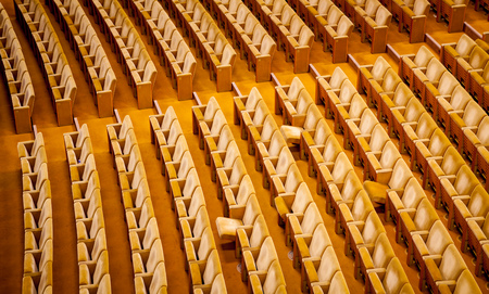 lonliness: Empty theater interior auditorium cinema or conference hall.