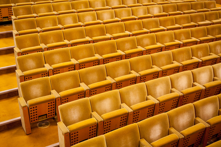 Empty theater auditorium cinema or conference hall. Stock Photo