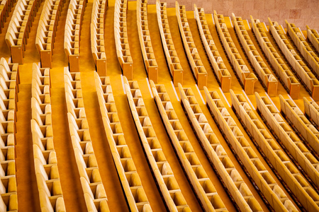 Empty theater interior auditorium cinema or conference hall.