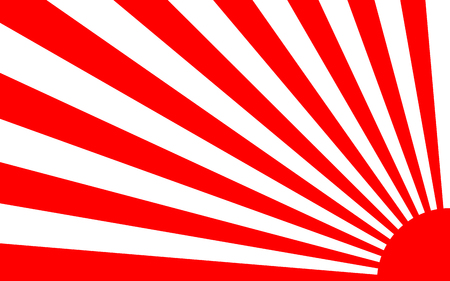 sunrise background with Japan style for banner