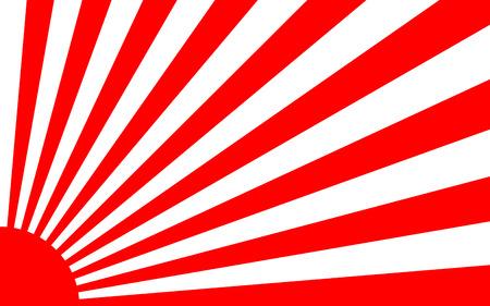 日の出背景バナーの日本スタイルに