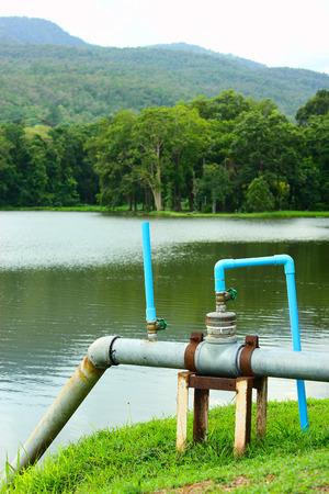 bomba de agua: Bomba de agua para consumo directo en dormitorio en Chiang Mai, Tailandia Foto de archivo