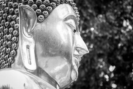 silver buddha statue in shisupan temple, chiangmai, thailand Stock Photo