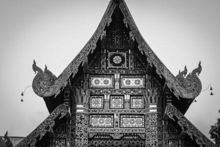 shine chapel in jediluang temple Stock Photo