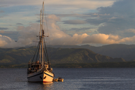Pinisi boat Sumbawa island, Indonesia photo
