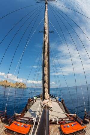 mast: Mast of pinisi boat, Indonesia