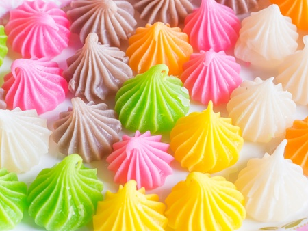 Thai Sweet Dessert Aalaw Candy Made From Wheat Flour, Chickpea ...
