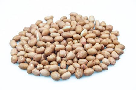 arachis: peanut (arachis hypogaea) isolated on white