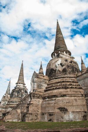 pagoda at ayutthaya historical park in thailand, phra si sanphet  temple photo