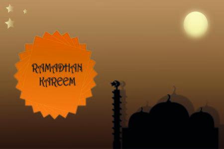 Illustration Vector Graphic of Ramadhan Kareem month celebration greeting card design, happy ied mubarak islamic traditions