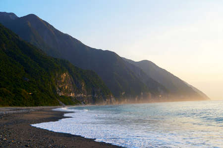 Sunrise at Chongde Bay, which is near by Chingshui Cliff on the Su-Hua Highway, Hualien, Taiwan