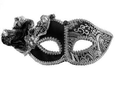 Carnival mask Christmas black white silver New year photo