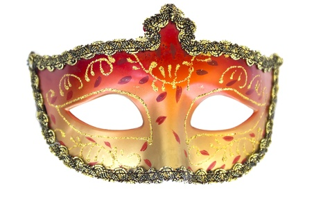 Carnival mask Christmas New year Venetian white background isolated object photo