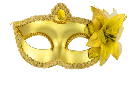 Carnival masquerade mask Christmas black gold  white silver New year