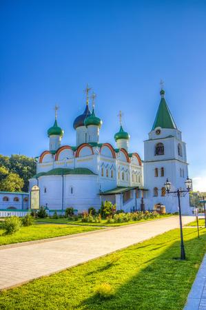 ascension:  Russia Pechersky ascension monastery in Nizhny Novgorod