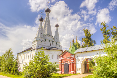 uglich russia:  Russia Alexeevsky monastery in  Uglich Stock Photo
