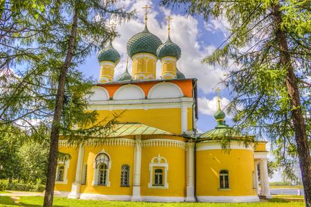 uglich russia:  Russia Spaso-Preobrazhensky Cathedral in Uglich Stock Photo