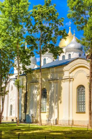 bargaining:  Russia Veliky Novgorod Yaroslava dvorishche and bargaining Stock Photo