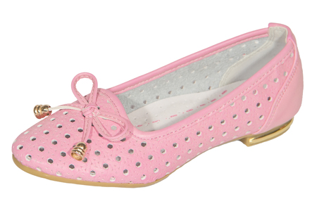 shoes ballet flats pink  mesh female white background isolated photo
