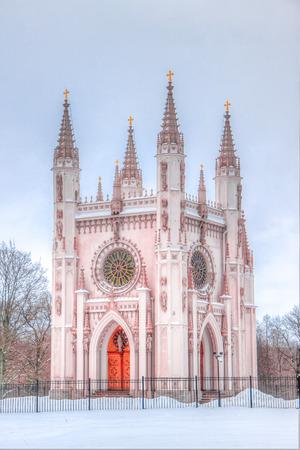 alexander: Alexander Nevsky Cathedral Peterhof Russia Gothic winter