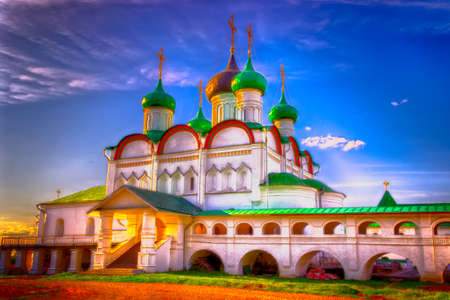 the ascension: Russia Pechersky ascension monastery in Nizhny Novgorod