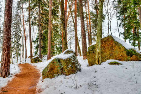 vyborg: Mon repos Park Vyborg Russia winter landscape landmark