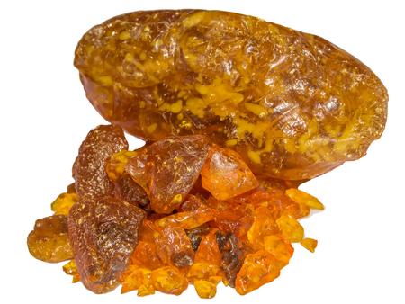 resin: Pile rosin resin isolated white background