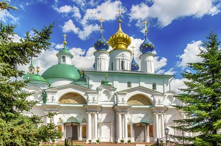 veliky: Spaso-Yakovlevsky Dimitriev monastery in Rostov Veliky Russia  Cathedral of conception of St Anne and temple of Iakov of Rostov