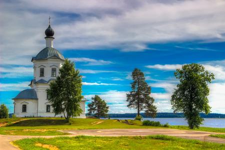 Monastery of Nilo-Stolobenskaya Pustyn Russia Seliger Tver oblast Ostashkov Church  Exaltation  Holy Cross Reklamní fotografie