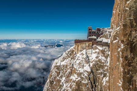 aiguille: Aiguille du Midi in Alps France