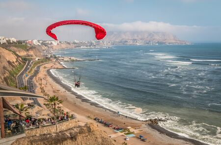 miraflores: Miraflores Beach in Lima Peru Stock Photo
