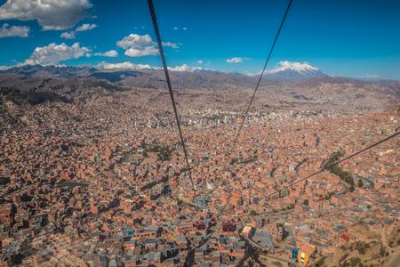 la paz: View of La Paz Bolivia Stock Photo