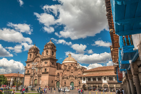 plaza of arms: Plaza Mayor in Cusco Peru