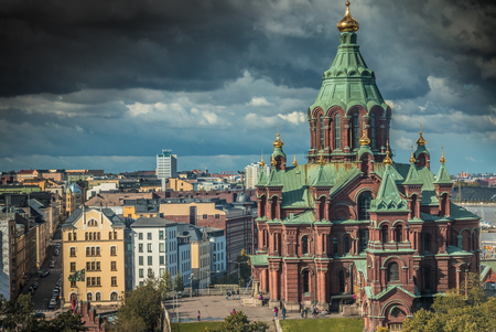 Uspenski Cathedral, Helsinki Stock Photo