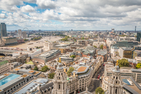 willis: Panoramic view of London Stock Photo