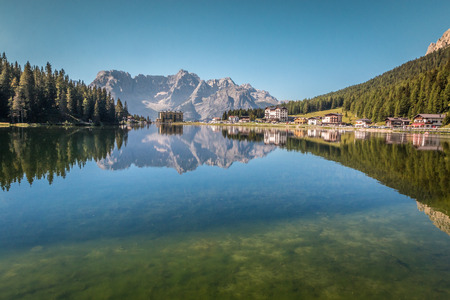 lake misurina: Lake Misurina in Italian Alps