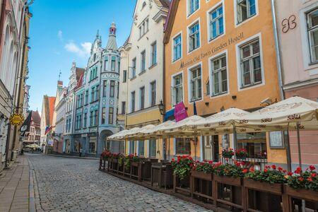estonia: Old streets of Tallinn Estonia Editorial