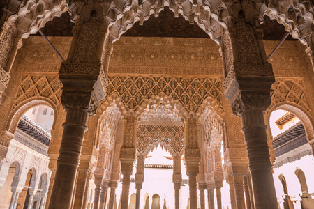 Nice view inside Alhambra palace