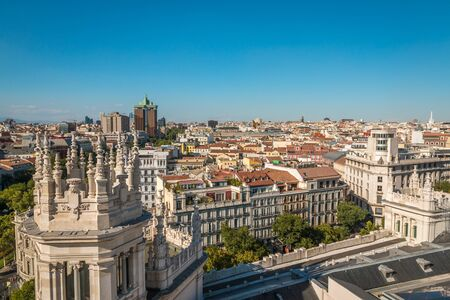 View of Madrid Spain Editorial