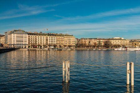 geneva: View on lake Geneva.